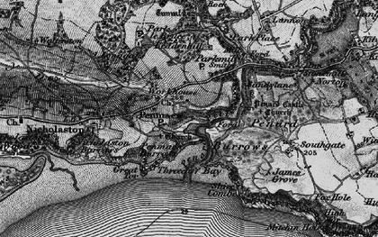 Old map of Penmaen in 1897