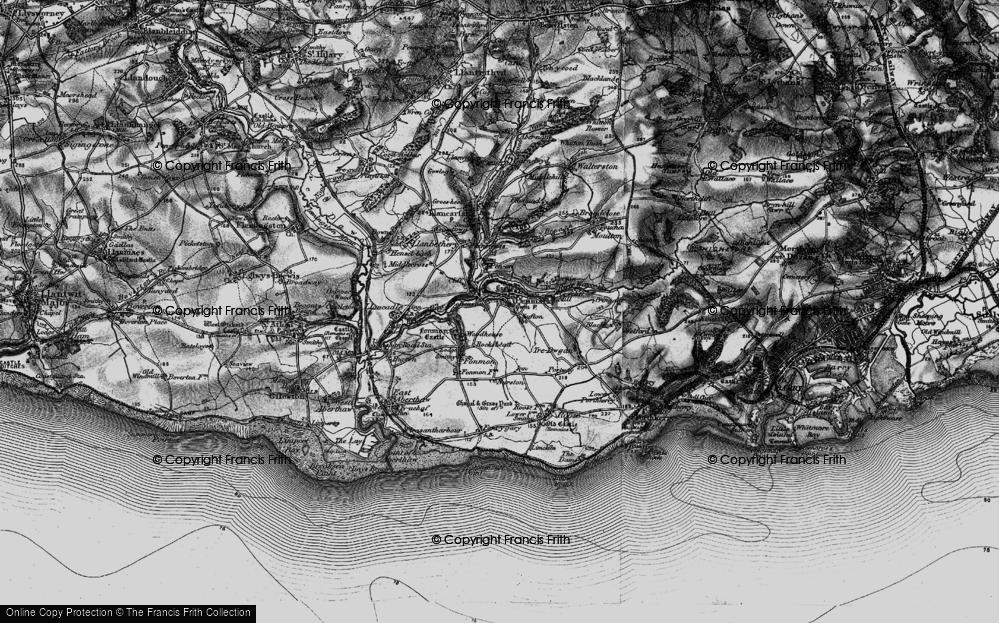 Old Map of Penmark, 1897 in 1897
