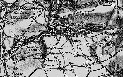 Old map of Penmark in 1897
