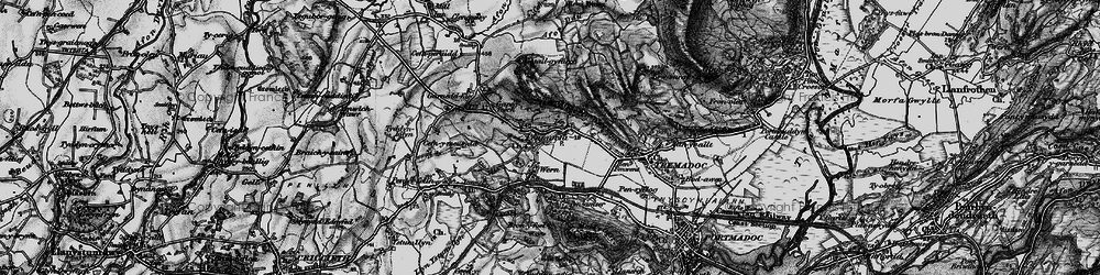 Old map of Y Fedw in 1899