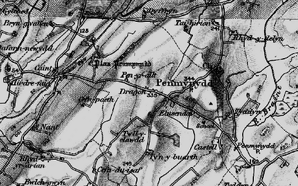 Old map of Afon Ceint in 1899