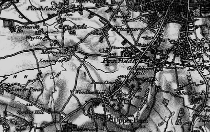 Old map of Penn in 1899