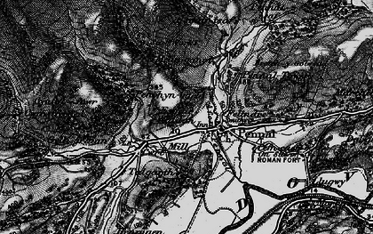 Old map of Afon Alice in 1899