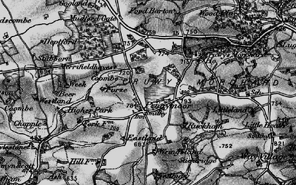Old map of Yeadbury in 1898