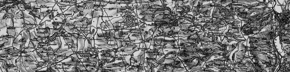 Old map of Wringsland in 1898
