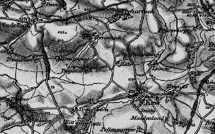 Old map of Pennytinney in 1895