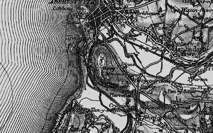 Old map of Penparcau in 1899