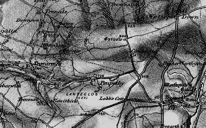 Old map of Penpethy in 1895