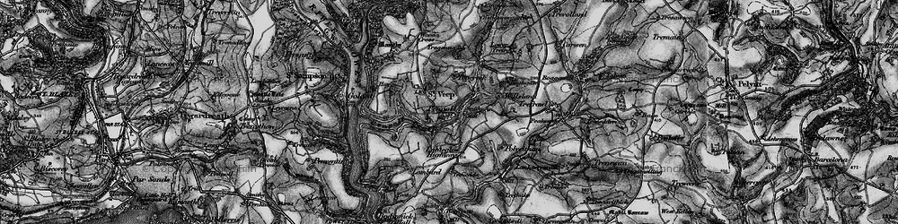 Old map of Willsland in 1896