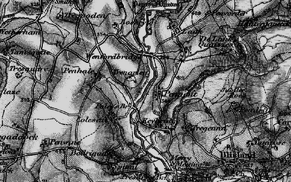 Old map of Penpont in 1895