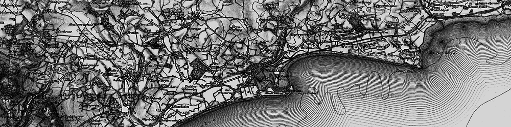 Old map of Allt Fawr in 1899