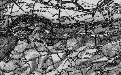 Old map of Afon Gwynon in 1898