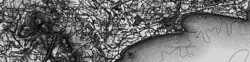 Old map of Afon Penrhos in 1899