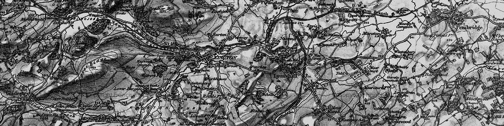 Old map of Bullocks Mill in 1899