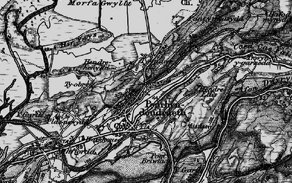 Old map of Penrhyndeudraeth in 1899