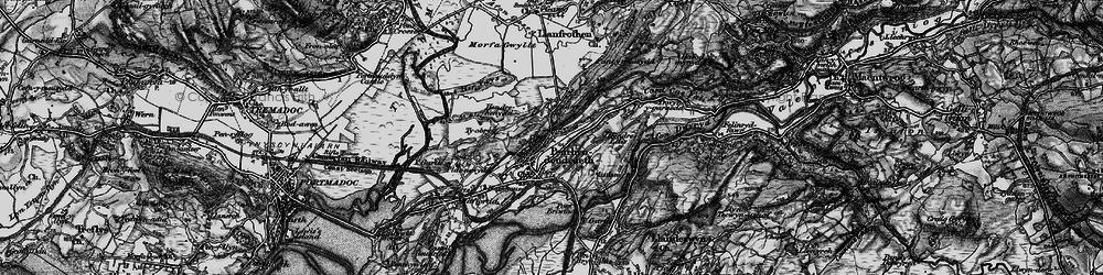 Old map of Penrhyndeudraeth in 1899