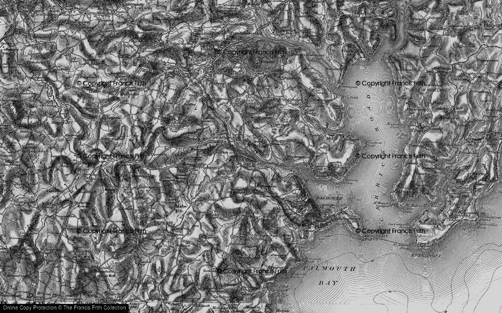 Old Map of Penryn, 1895 in 1895