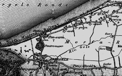 Old map of Pensarn in 1898