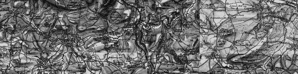 Old map of Whitley Batts in 1898