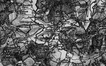 Old map of Penshurst in 1895