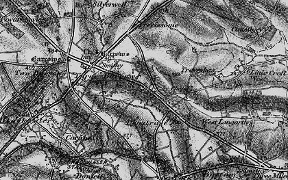 Old map of Penstraze in 1895