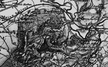 Old map of Allt y Gaer in 1899