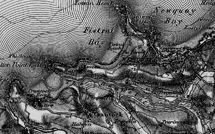 Old map of Pentire in 1895