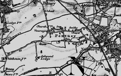 Old map of Ashwood Lodge in 1898