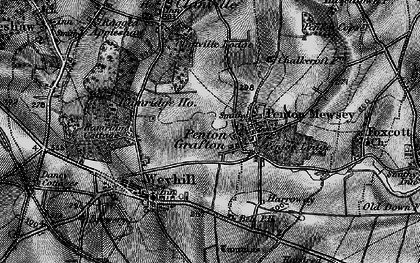 Old map of Weyhill Service Area in 1895
