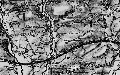 Old map of Lanygors in 1898