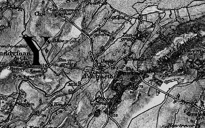 Old map of Afon Nodwydd in 1899
