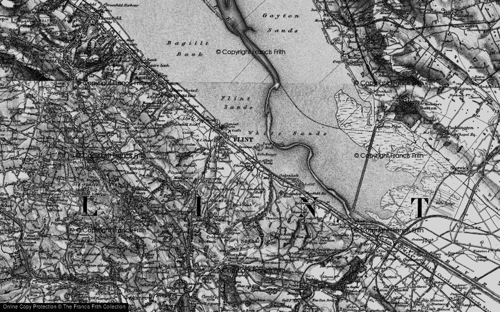 Old Map of Historic Map covering Leadbrook Hall in 1896
