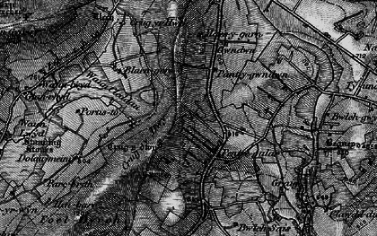 Old map of Wauncleddau in 1898
