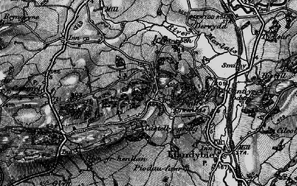 Old map of Afon Marlas in 1898