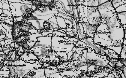 Old map of Wrexham Industrial Estate in 1897