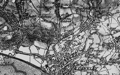 Old map of Pentre-Poeth in 1896