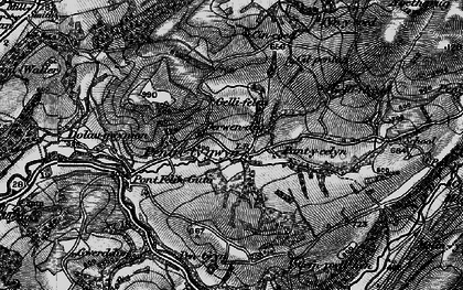 Old map of Afon Gwydderig in 1898