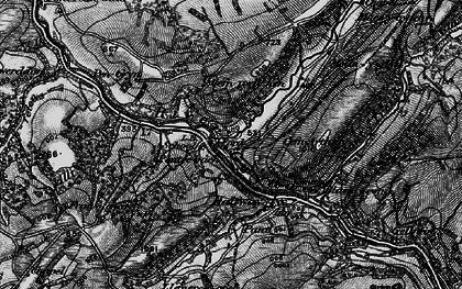 Old map of Allt y Ferdre in 1898