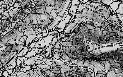 Old map of Pentrefelin in 1898