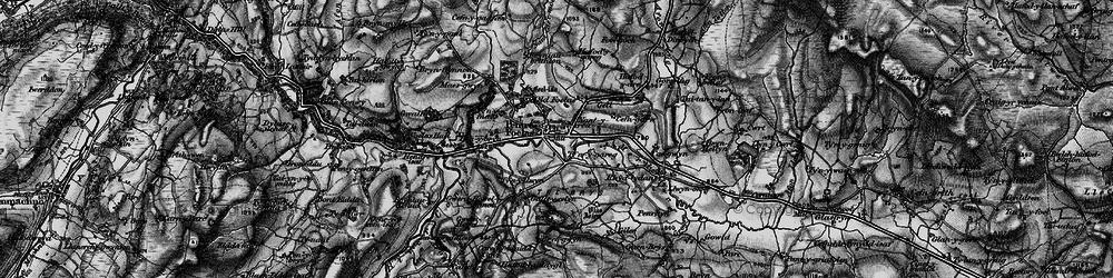 Old map of Afon Twllan in 1899