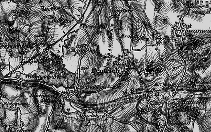Old map of Pentrich in 1895