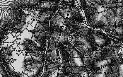 Old map of Penwartha in 1895