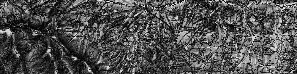Old map of White Oak Ho in 1895