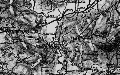 Old map of Abermithel in 1899