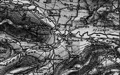 Old map of Penybontfawr in 1899