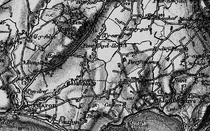 Old map of Ysgo in 1898