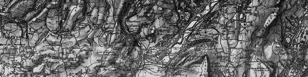 Old map of Allt-y-fanog in 1897