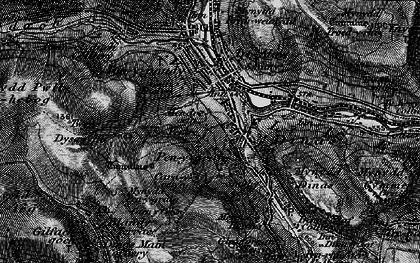 Old map of Penygraig in 1897