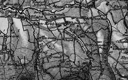 Old map of Afon Clun-maen in 1898