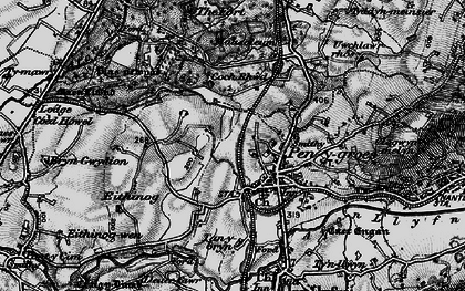 Old map of Penygroes in 1899